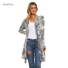 Giraffita Drop Shipping Cardigan Women Sweater Casual Crochet Plus Size Coat Women Long Vestidos Cardigans