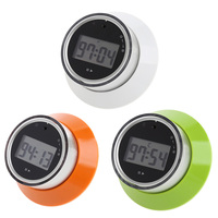 Portable LCD Digital Kitchen Timer Portable Round Magnetic Countdown Alarm Clock