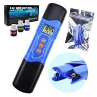 3 in 1 ORP Redox PH Temperature Combo Meter Tester w/ EXTRA Electrode Lab Hydroponics Swimming Pool 1999~1999mV 0.00 14.00pH