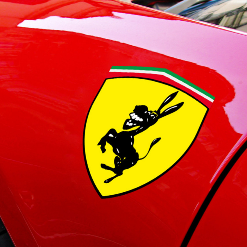 2pcs New Funny Car Window Bumper Body Donkey Sticker Decal Styling Accessories Fit For Ferrari Ford Mustang car decals for ford focus 2017 new personality car sticker funny diy decal sticker car styling 2 color 2 pcs car accessories