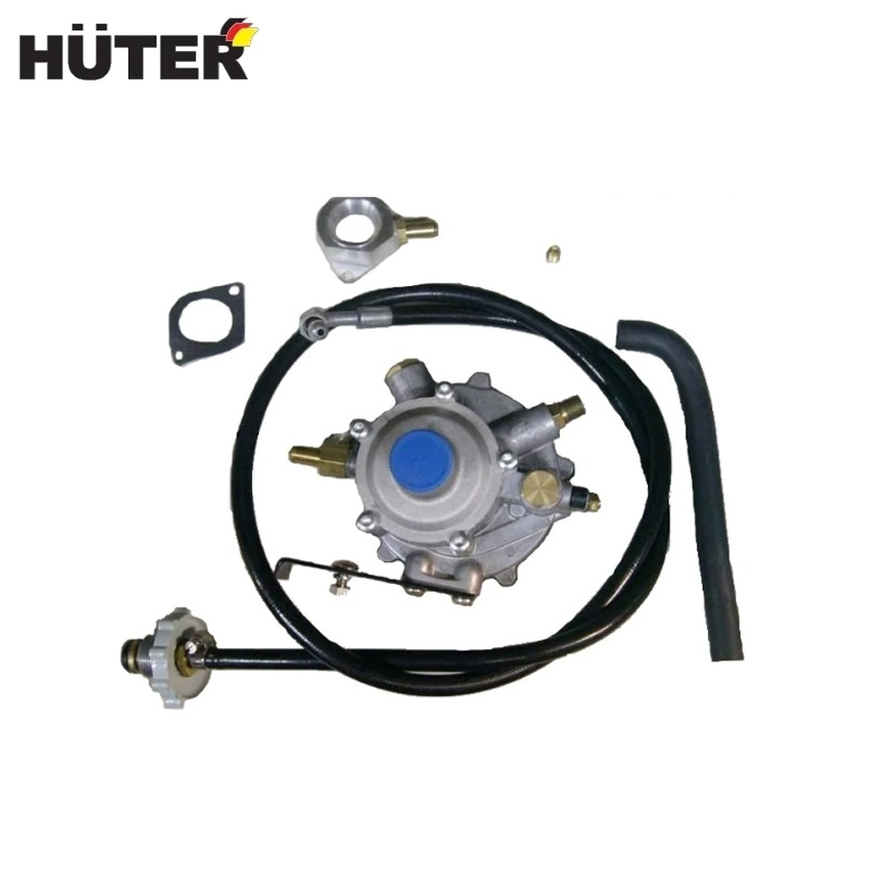 Set to run on gas HUTER Gas gearbox with mounting bracket Connecting hoses Gas supply system to generator fuel system uxcell air fuel gas polyurethane flexible pu hose tube pipe clear 4mmx2 5mm 5meter 16ft