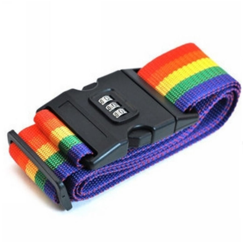 1pcs Colorful Travel Luggage Strap Belt with 3 Digits Passwords Lock Adjust able Nylon Suitcase secure Safe Packing Belt