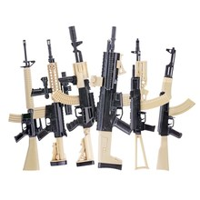 1:6 Assemble Gun Model For 12 Action Figure Assault Rifle AK47 M4 M16 AKM AK74 Color Version Weapon