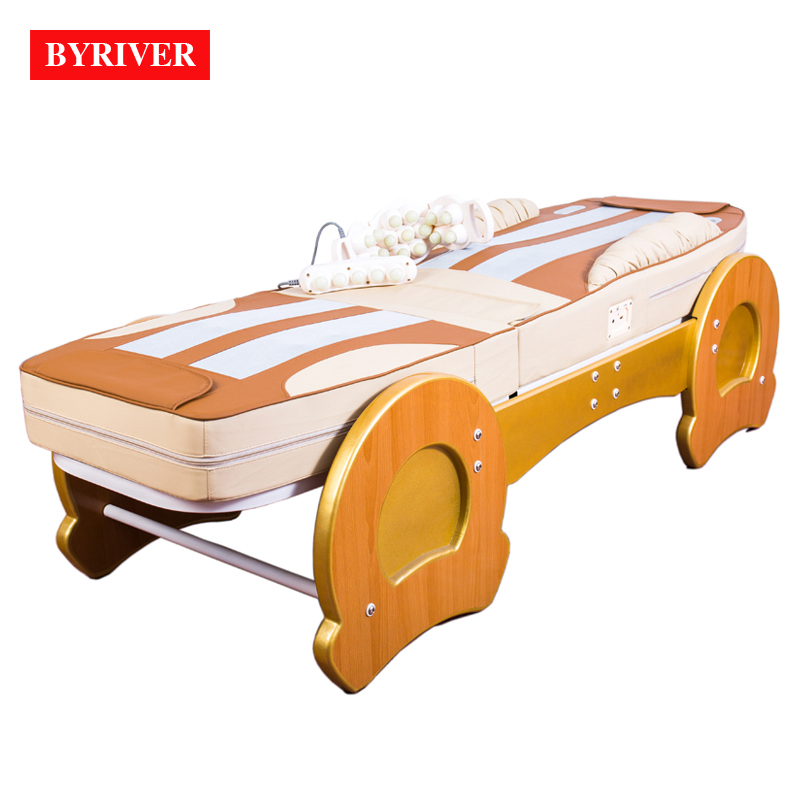 Image 2 - BYRIVER Best Version Roller Lift 3D Therapy Massage Bed Thermal Massager 9+4 Jade Roller Add Back Incline Decline function    -
