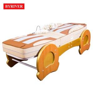 Image 2 - BYRIVER cama de masaje de terapia 3D, rodillo de Jade 9 + 4, función de reducción de inclinación de espalda