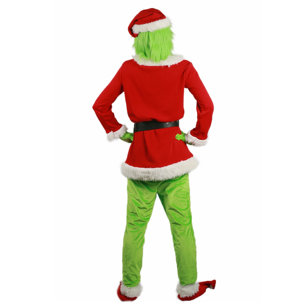 Santa Grinch Costume How the Grinch Stole Christmas Cosplay  XCOSER Suit Outfits