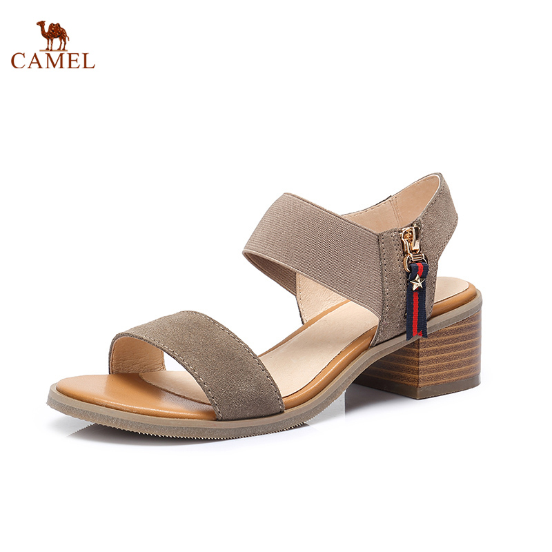 CAMEL New Trend Woman Sandals 2018 Summer Fashion Casual Thick Sandals Simple Square heel Comfortable High