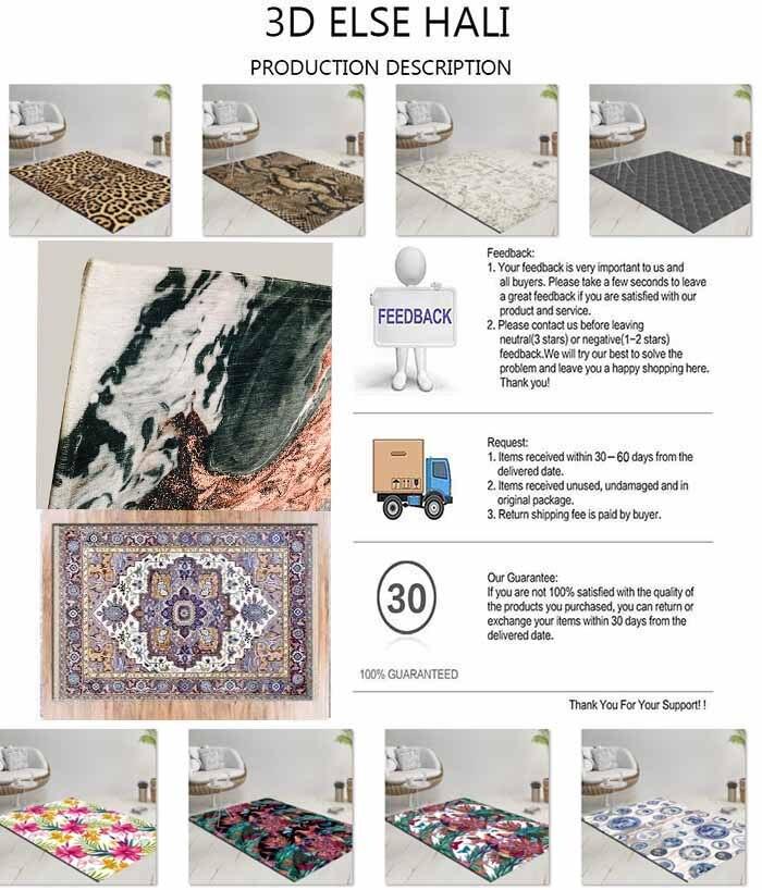 Colorful Digital Printing Carpet Floor Antislip Home Area Kilim Aesthetic Retro Design Durable Carpet Rug Home Floor Kilim Home Retro