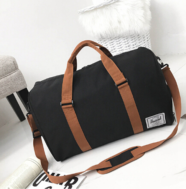22de60fd95db Fashion Canvas Duffle Bag Carry-on Luggage mens bags casual travel bags  tote bags. Mens Hand Bag