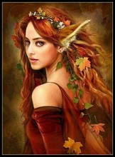 Embroidery Counted Cross Stitch Kits Needlework   Crafts 14 ct DMC Color DIY Arts Handmade Decor   The Fox Girl