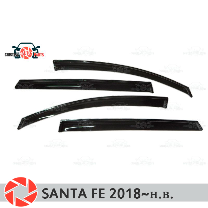 Window deflector for <font><b>Hyundai</b></font> <font><b>Santa</b></font> <font><b>Fe</b></font> 2018~<font><b>2019</b></font> rain deflector dirt protection car styling decoration accessories molding image