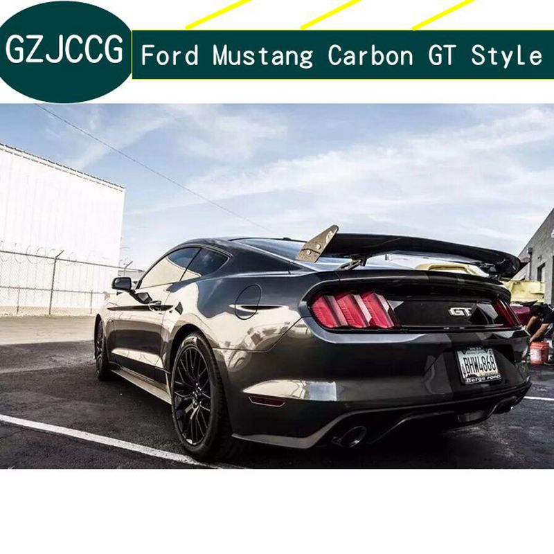 High quality carbon fiber rear wing torso lip spoiler for Ford Mustang 2015 2016 2017