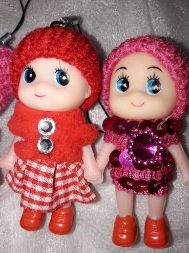 Popular Brand 1pcs Cute Mini Dolls Pendant Gift For Mobile Phone Straps Bags Part Accessories Decoration Cartoon Movie Plush Toy Bag Parts & Accessories