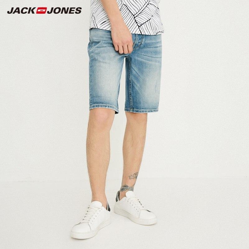 JackJones Men's Slim Fit Cotton Casual Denim   Shorts   J|218243522