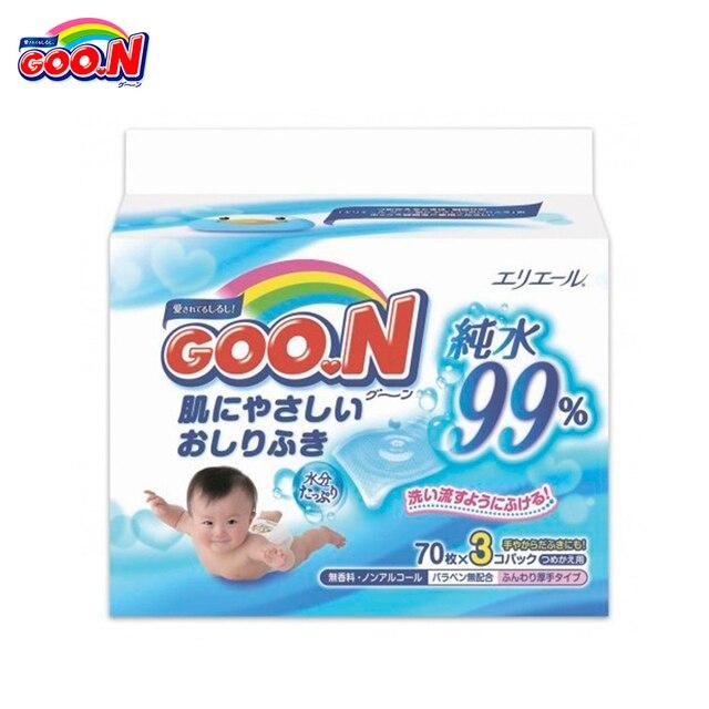 Влажные салфетки GOON  для младенцев , с 0 мес. (70*3)