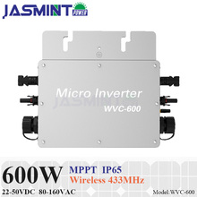 Waterproof 600W Micro Inverter with DC 22-50V Wide Input Voltage to AC80-160V or 180-260V High Efficiency MPPT Grid Tie Inverter цены