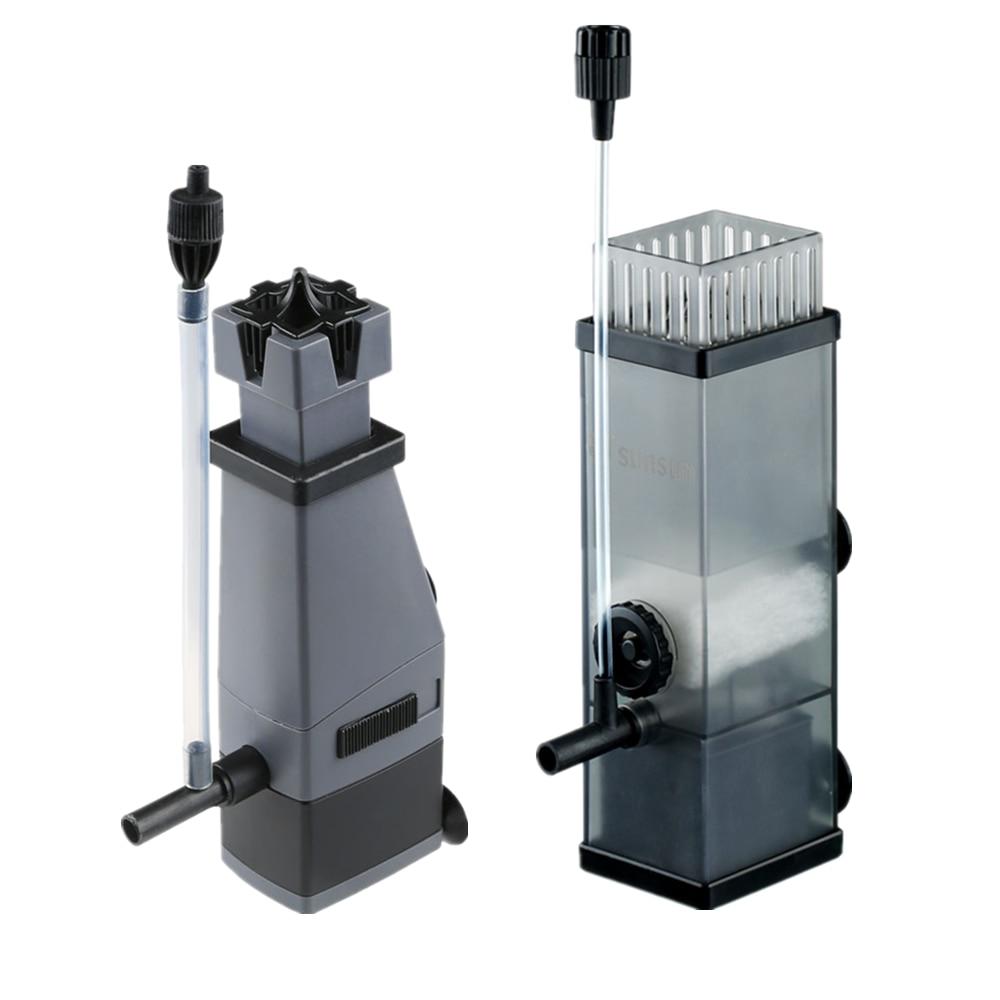 Écumeur de Surface de pompe d'aquarium, dissolvant de Film d'huile, filtre pour l'étang de réservoir de poissons ajoutent la pompe de filtre à oxygène d'air 3W 5W 220v 300L/H