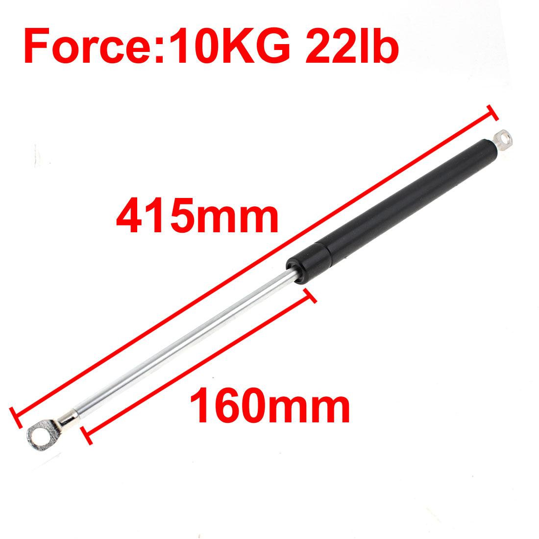 UXCELL 10Kg 22Lb Force Car Auto Lift Support Gate Hatch Door Shock Damper Gas Spring 415Mm Length