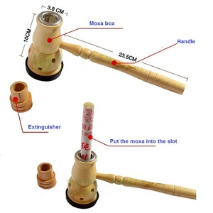 Image 2 - Moxibustion Moxa Burner Box With 10 Pure Moxa Stick Rolls   Traditional Chinese Massage Therapy For Antistress & Acupuncture