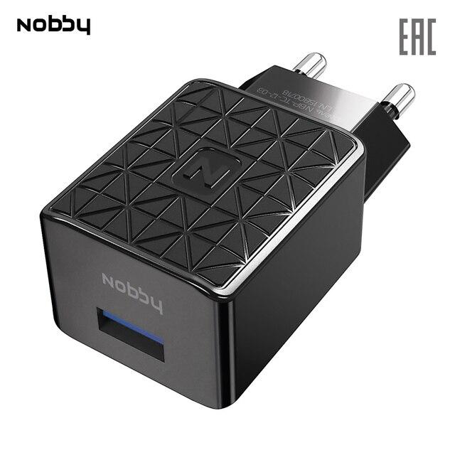 Сетевое зарядное устройство Nobby Practic NBP-TC-12-03, USB, прочное, надежное зу,черный
