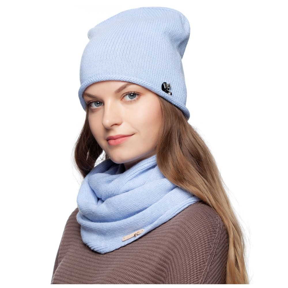 Hat Noryalli (blue) cap double warm noryalli light gray