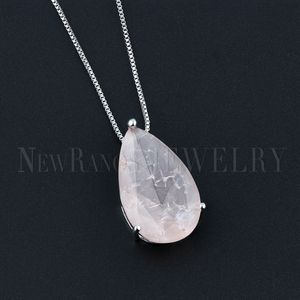 Image 2 - Newranos Water Drop Pendant Necklace Natural Crashed Stone Necklace Statement Jewelry for Women Fashion Jewelry NFX001724