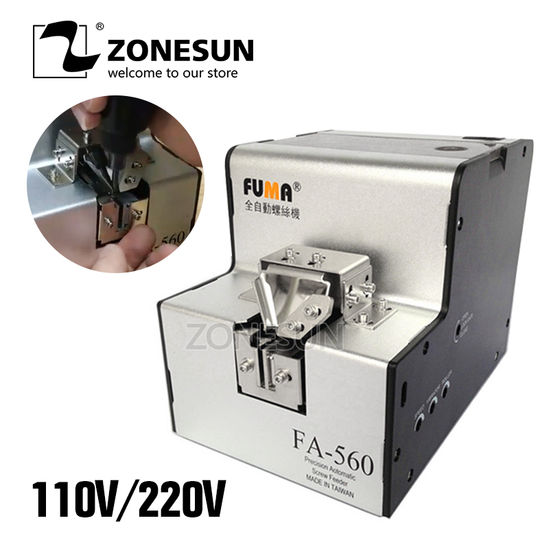 ZONESUN 110V/220V Automatic Screw Feeder Machine Conveyor Screw Arrangement Machine FA 560 1.0 6.0 mm Auto Screw Dispenser