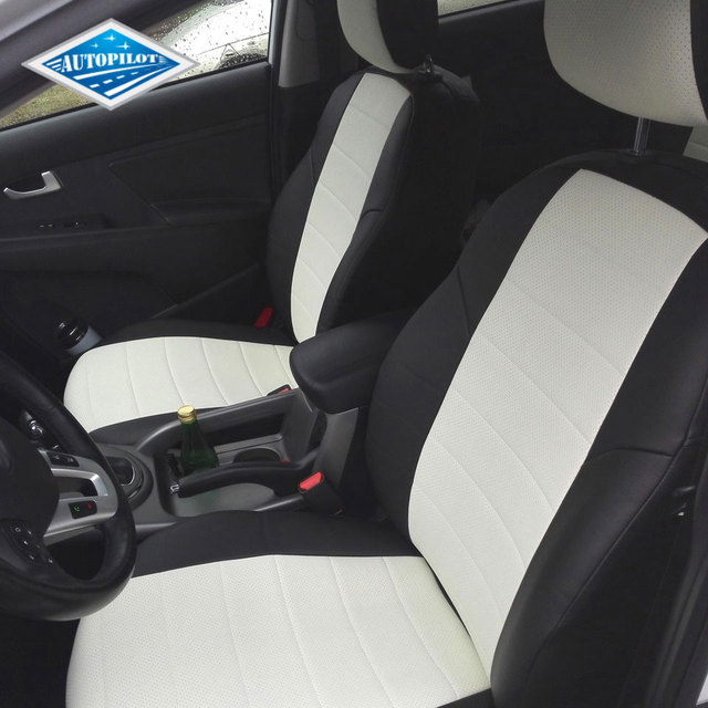 Для Kia Sportage 3 SL 2010-2015 специальные чехлы для сидений полный комплект автопилот экокожа