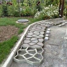 Тротуар Плесень DIY Пластик путь чайник плесень вручную укладки формы цемент кирпич камень Road конкретные формы инструмент для сада