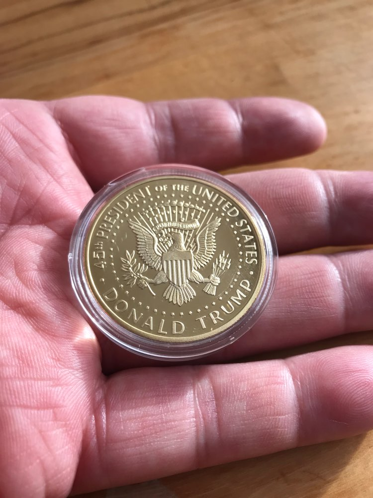 Trump Gold Plated Commemorative Coin 2017 photo review