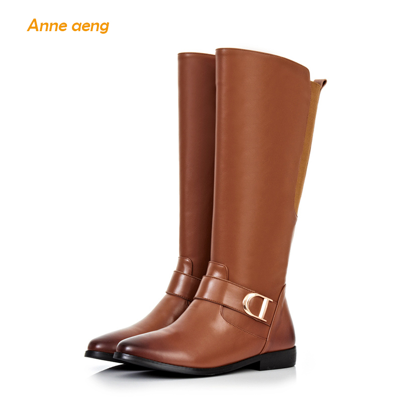 Anne Aeng womens shoes winter boots Mid-Calf 2018 Classic Free Shipping Genuine Leather Square Heel Zip Round Toe Buckle BeltAnne Aeng womens shoes winter boots Mid-Calf 2018 Classic Free Shipping Genuine Leather Square Heel Zip Round Toe Buckle Belt