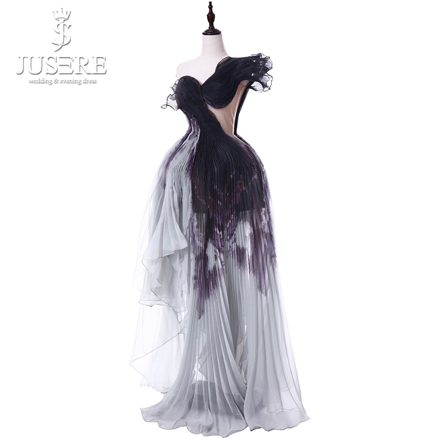 2019 Spring Summer Jusere China Fashion Week Haute Couture Colorful Red Carpet Designer Couture Real Photos Evening Gown Evening Dresses Aliexpress