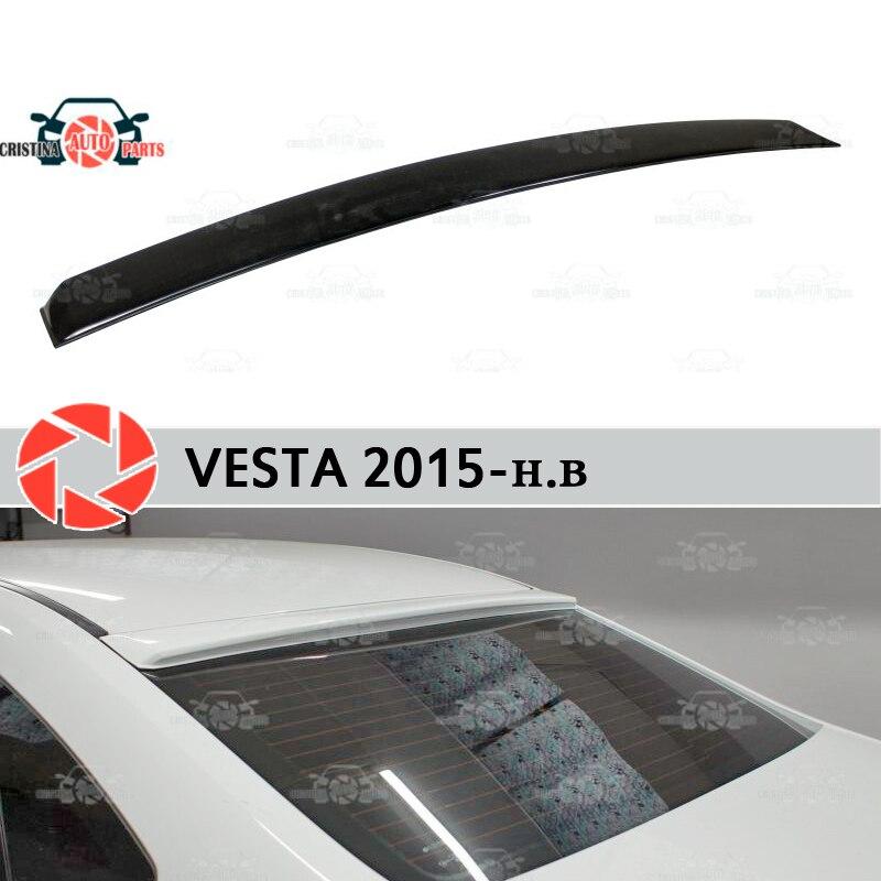 Pour Lada Vesta 2015-becquet sur la plaque de la canopée de la fenêtre arrière becquet pour les lèvres en plastique ABS protection accessoires de bas de caisse protection style de voiture