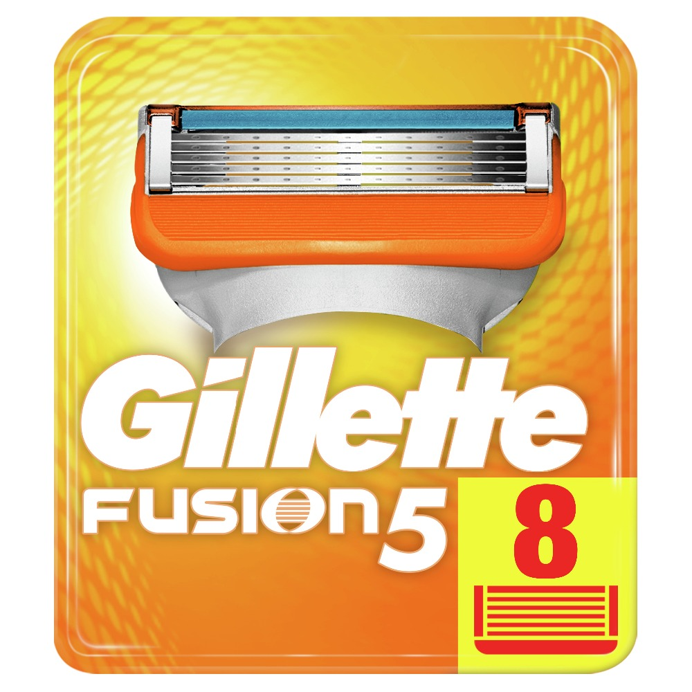Removable Razor Blades for Men Gillette Fusion Blade for Shaving 8 Replaceable Cassettes Shaving Fusion shaving cartridge Fusion gillette fusion silver power proglide flexball shaving razor blades for men electric shaver brands straight razor face care 1pc