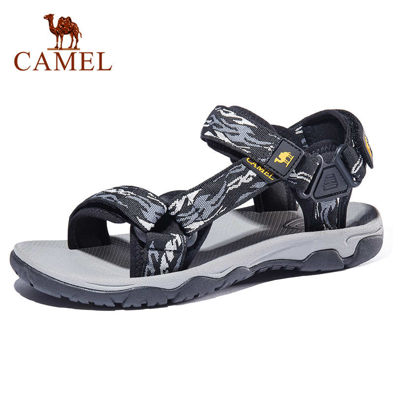 CAMEL Men Outdoor Beach Sandals Summer Casual Comfortable Anti-slip Beach Hiking Outdoor Sports Fishing Sandals