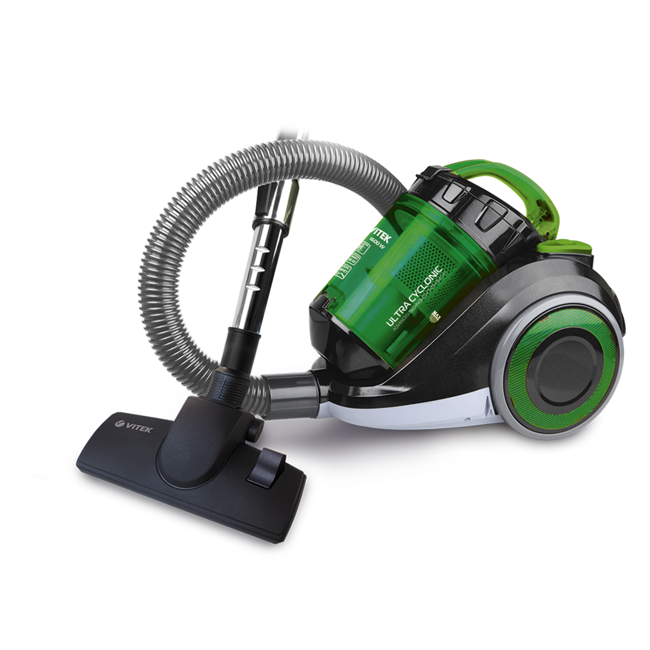 Vacuum cleaner electric Vitek VT-1815 G (Bagless, power 1600 W, container capacity 1.5 l, cyclone filter, cord length 5 m)