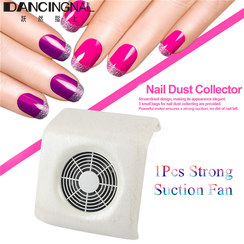 Nail Dust Collector Suction Nail Art Collector Dust Vacuum Cleaner ...