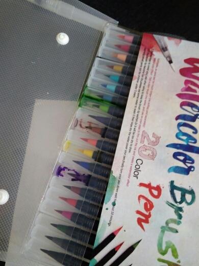 Watercolor Brush Pens - 20 Piece Set photo review