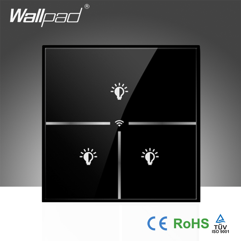 Новое поступление, настенный светильник с черным кристаллом, UK 110 ~ 250 V, 3 банды, wifi, пульт дистанционного управления, wifi, настенный светильник,...