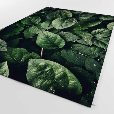 Else Forest Green Leaves In Jungle Background 3d Print Non Slip Microfiber Living Room Decorative Modern Washable Area Rug Mat