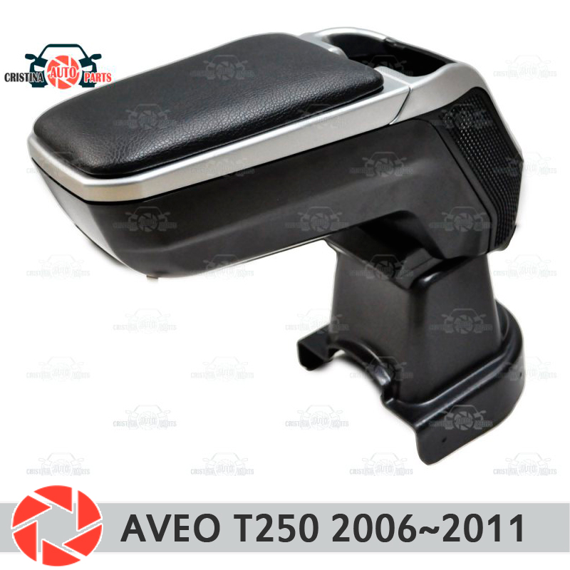 Armrest for Chevrolet Aveo T250 2006-2011 car arm rest central console leather storage box ashtray accessories car styling m2 armrest for opel zafira b 2005 2011 car arm rest central console leather storage box ashtray accessories car styling m2