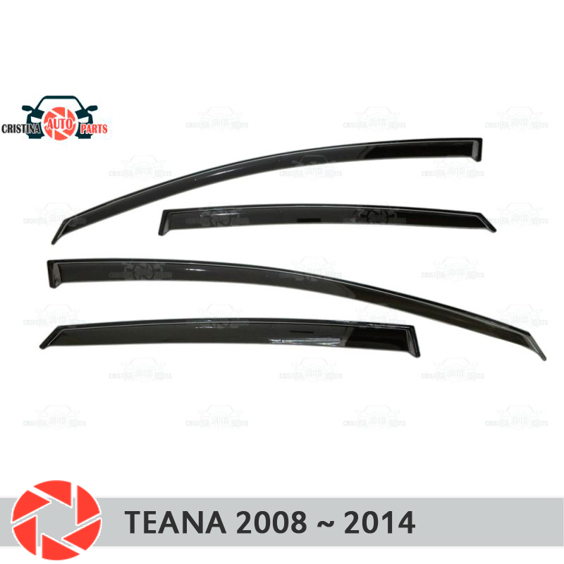 Window deflector for Nissan Teana 2008-2014 rain deflector dirt protection car styling decoration accessories molding free shipping for vland car headlamp for nissan teana led headlight led drl h7 hid xenon lamp projector lens lamp for 2008 2012