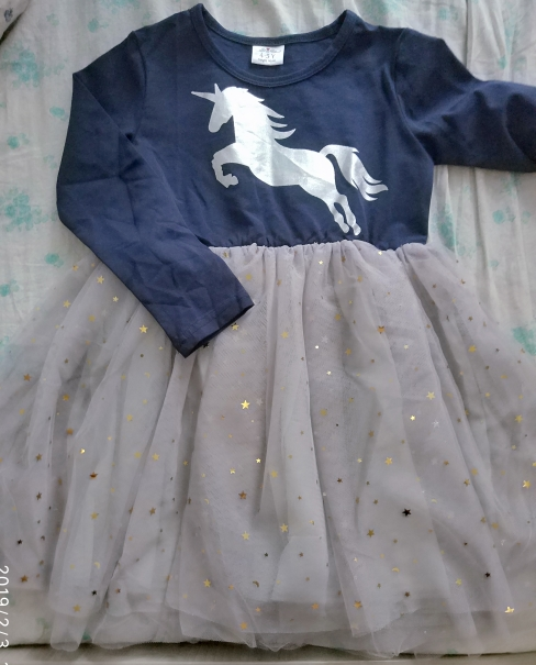 Unicorn Sequined Kids Tutu Dress photo review