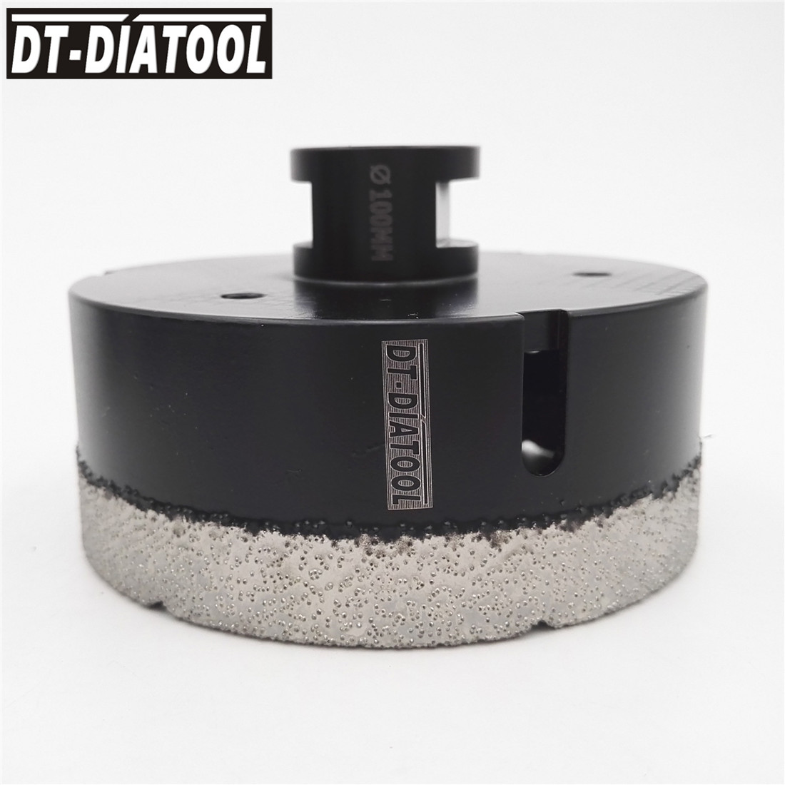 цена DT-DIATOOL 100mm Dry Vacuum Brazed Diamond Drill Core Bits stone Tile Hole Saw Professional Quality Drilling bits M14 Thread
