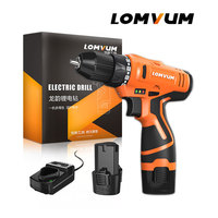 LOMVUM Hot Sale Electric Screwdriver Multifunction Lithium Battery Electric Drill WaterProof Rechargeable Mini Cordless Drill.