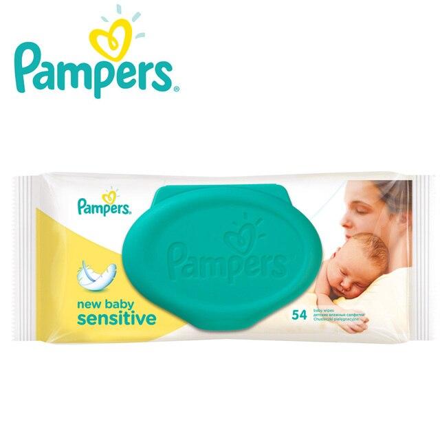 Детские влажные салфетки Pampers New Baby Чувствительны, 54 шт.