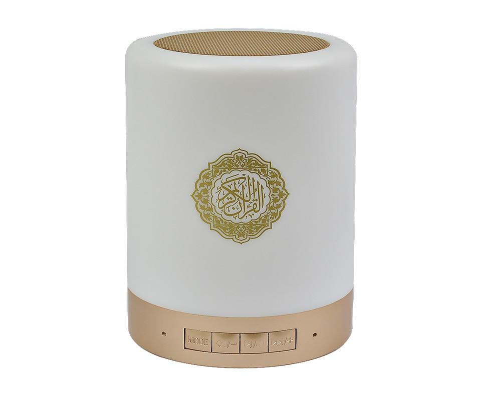 Portable LED Bluetooth Speaker Quran Koran Reciter Speaker 8G MP3 FM Radio  Speaker 25 Languages Remote Control Muslim Gift