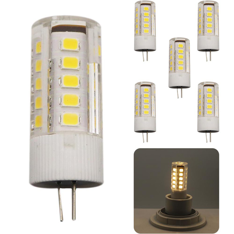 5x Ceramic LED Bulb G4 SMD 2835 LED lamp 3W Light AC220V AC220V light 360 degree Warm White