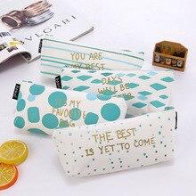 FGHGF Portable canvas pencil case fashion cute pen bag to school supplies box pouch boxes for kids kawaii