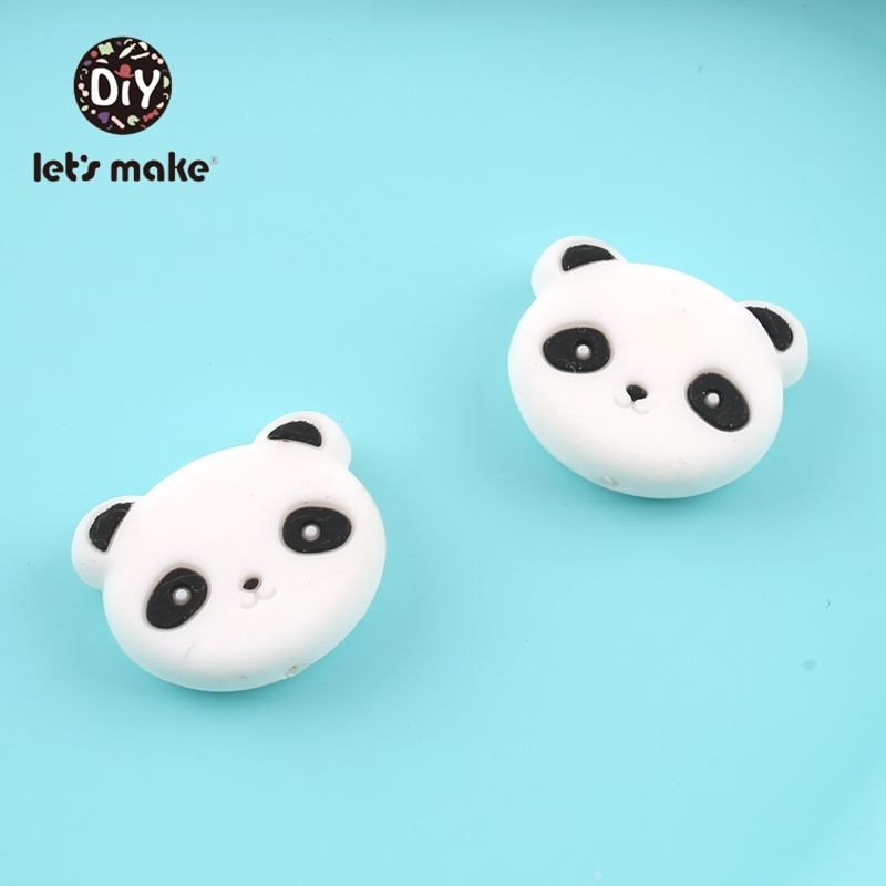 Предпродажа силиконовые бусины с рисунком панды форма еда класс Силиконовые бусы для прорезывания зубов цепочки и ожерелья крошечные стер